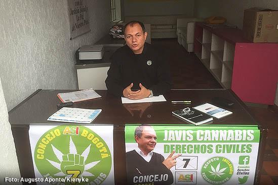 El Candidato al Concejo de Bogota propone cultivar cannabis por todo Bogotá