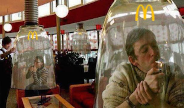 Zona de fumadores de marihuana en McDonald's de Colorado