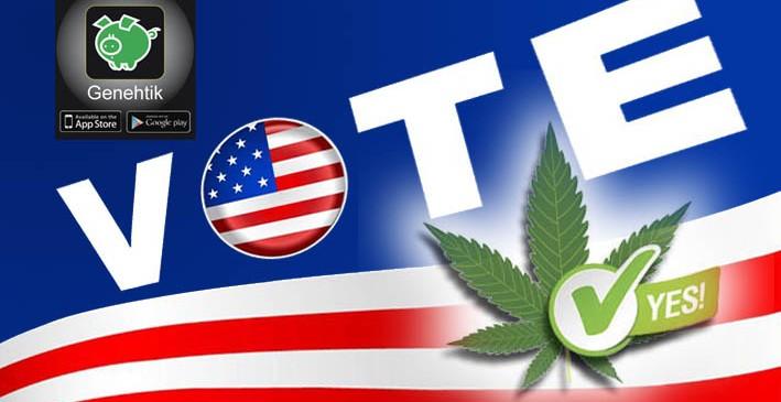 Consumo recreativo de marihuana legal en 8 estados (EE.UU.)