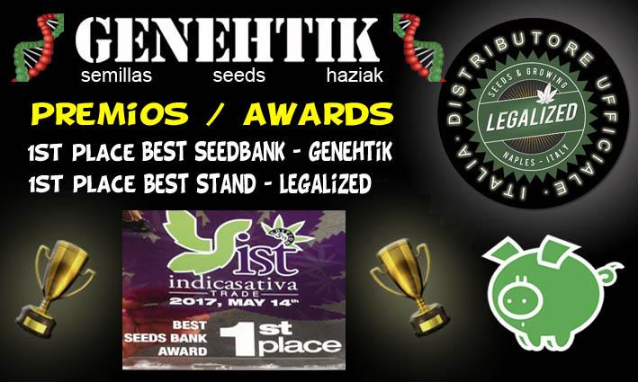 IndicaSativaTrade 2017 - Mejor banco de semillas y mejor stand Genehtik / Legalized