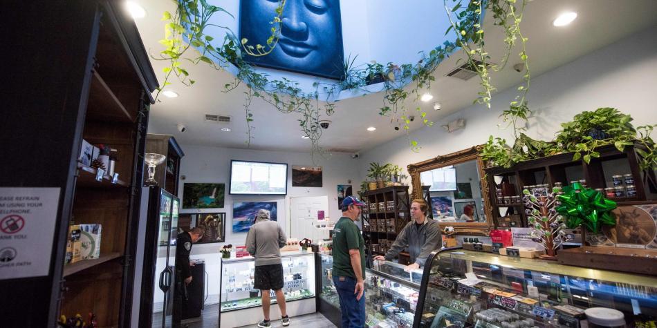 Dispensario de marihuana en California