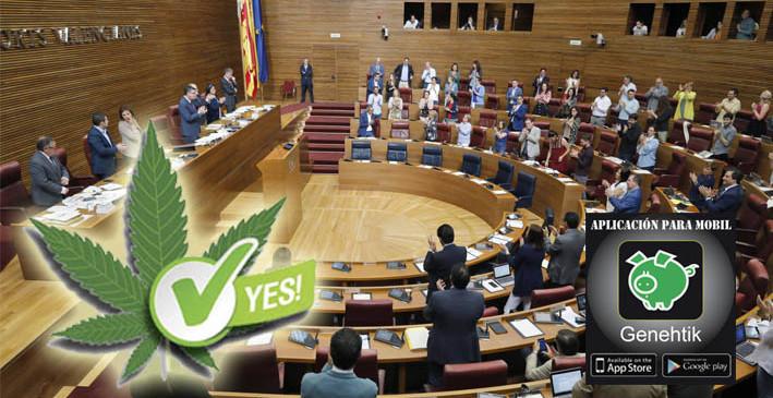 Las Cortes Valencianas votan a favor de la regulación del cannabis