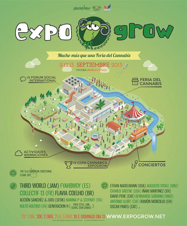 Expogrow 2015, Feria del cannabis en Irún