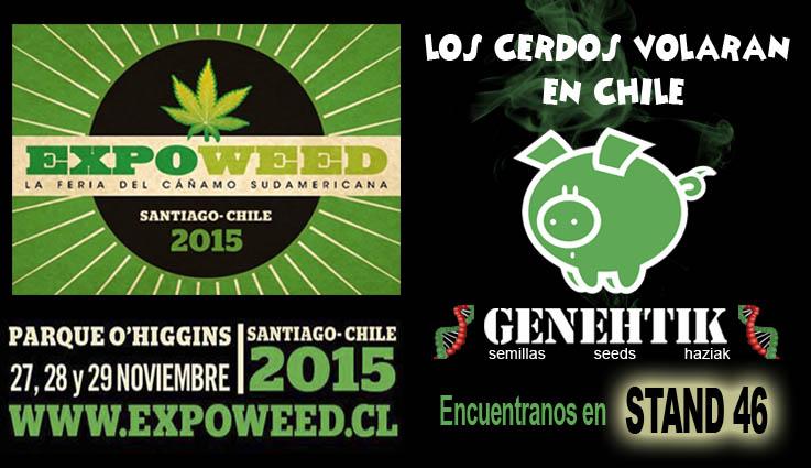 Nuestro banco de semillas de marihuana Genehtik estará presente en Expoweed 2015