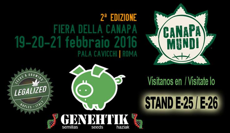 Feria del cannabis Canapa Mundi en Roma 2016