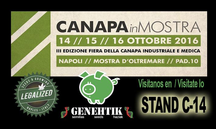 Feria del cannabis CanapaInMostra 2016