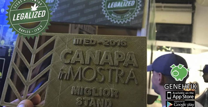 Premio a mejor stand en CanapaInMostra 2016 para Legalized