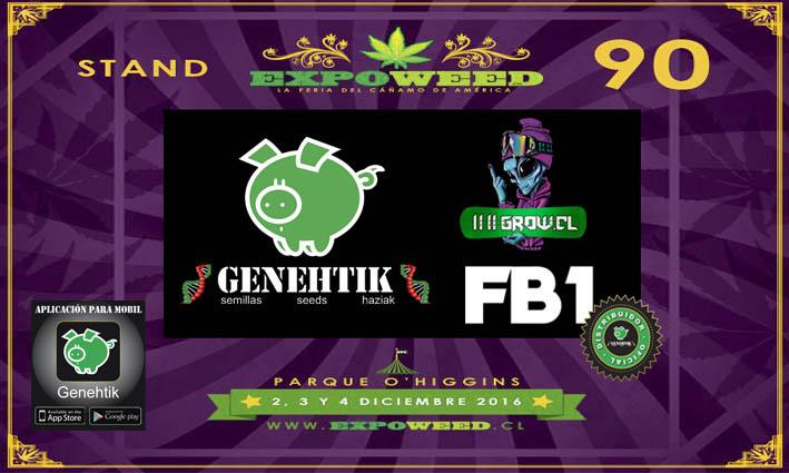 Semillas de cannabis Genehtik en Expoweed Chile 2017