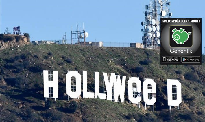 Cambian el cartel de Hollywood por Hollyweed para celebrar la legalización de la marihuana en California