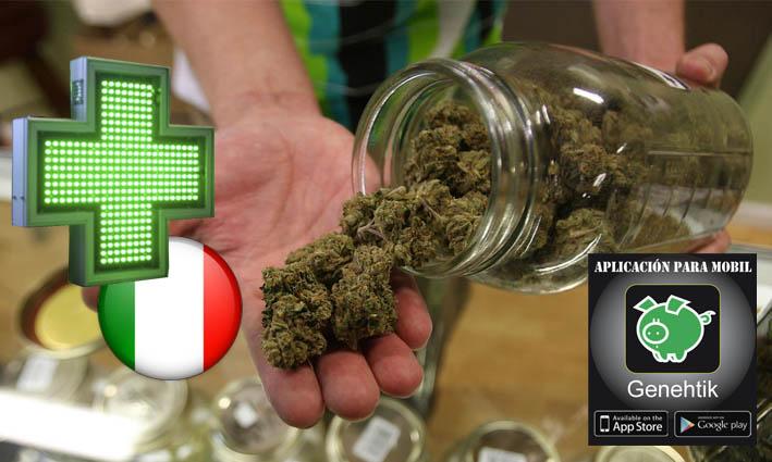 A la venta los primeros botes de marihuana en las farmacias de Italia