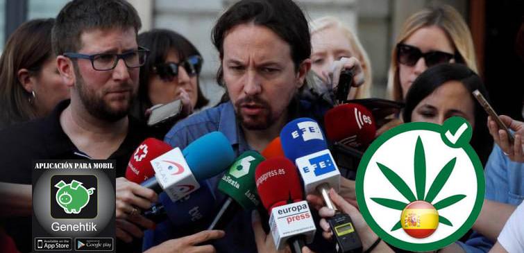 Pablo Iglesias quiere legalizar la marihuana en España