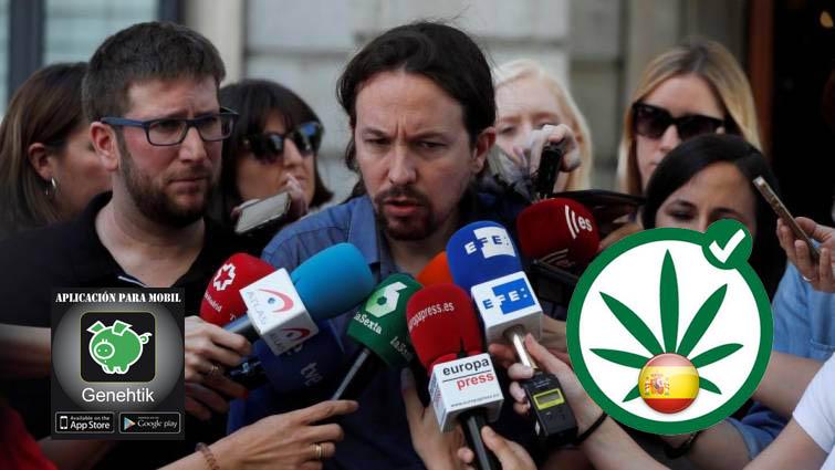 Pablo Iglesias defiende la legalización de la marihuana en España