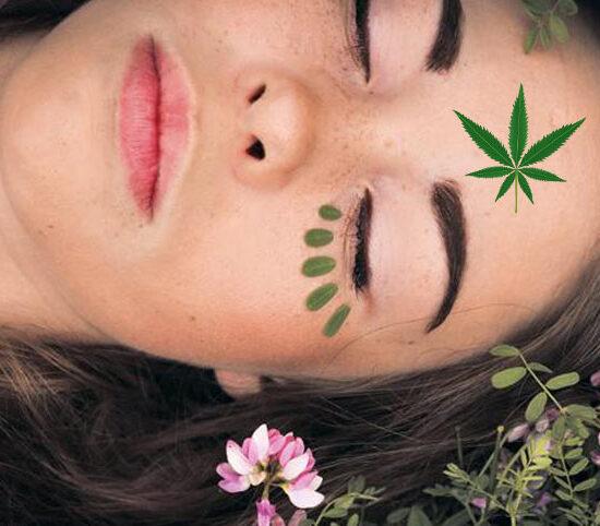 Cremas de cosmética de cannabis con CBD