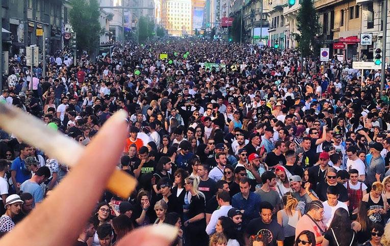 Marcha de la marihuana 2019 en Madrid